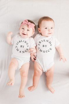 Siblings By Chance, Friends by Choice Cute Baby Twins, Twin Baby Girls, Boy Girl Twins, Cute Little Baby, Twin Babies, Baby Kids, Newborn Twins, Twin Twin, Twin Baby Photos