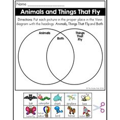 Vehicles and things in the sky venn diagram worksheet venn diagram animals and flying things venn diagram worksheet kindergarten science students will put each of the ccuart Choice Image