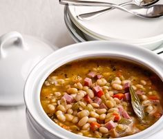 Ingredients  1 pound dried navy beans 1 tablespoon olive oil 1 large onion, chopped 2 cloves garlic, minced 1 large carrot diced 2 ribs celery, diced 1 tablespoon crumbled fresh sage 4 cups low-sodium beef broth 4 cups water 1 bay leaf 1 teaspoon salt ½ teaspoon freshly ground black pepper 4 oz. leanRead More