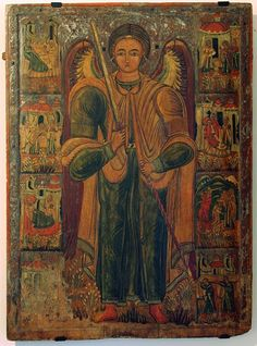 Michael Archangel) - an icon XVI cent, - , Historic Museum in Sanok, Poland Religious Icons, Religious Art, Gabriel, Art Through The Ages, Angel Drawing, Religious Paintings, Byzantine Art, Miguel Angel, Catholic Art