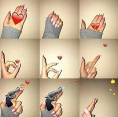 Collections qui incluent : Fuck love🖕❤ - We Heart It Emoji Wallpaper Iphone, Cute Emoji Wallpaper, Mood Wallpaper, Aesthetic Iphone Wallpaper, Emoji Pictures, Cool Girl Pictures, Snapchat Picture, Instagram And Snapchat, Hand Photography