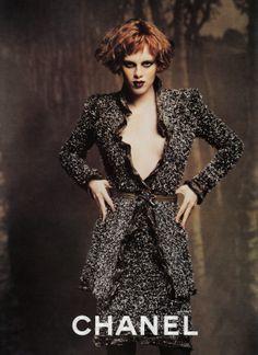 516b0f59e8f Campaign  Chanel Season  Fall 1997 Photographer  Karl Lagerfeld Model   Karen Elson Sophie