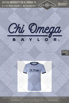 Baylor University Chi O Ringer PR #BUnlimited #BUonYOU #CustomGreekApparel #GreektShirts #Fraternity #Sorority #GreekLife #TShirts #Tanks #ChiOmega #ChiO #Cups #Simple #PR #Cursive #Baylor #Recruitment #SpringBreak #Trendy #PR #BidDay