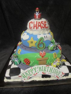 Mario Kart Cake (from For Heaven's Cake! in Leland, NC)