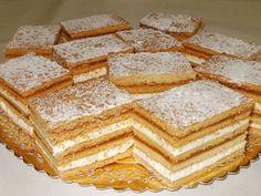 Albinuta, Yummy can't wait to make it! Romanian Desserts, Romanian Food, Romanian Recipes, Sweets Recipes, Cake Recipes, Homemade Sweets, Dessert Bread, Food Cakes, Cream Cake