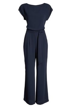 Eliza J Cap Sleeve Jumpsuit Dressy Rompers And Jumpsuits, Jumpsuit Dressy, Jumpsuit With Sleeves, Jumpsuits For Women, 6th Form Outfits, Western Dresses For Women, Corporate Fashion, Over 50 Womens Fashion, Fashion For Over 50