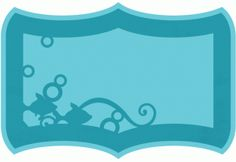 Silhouette Design Store - View Design #64768: fish layered frame Silhouette Frames, Silhouette Design, Name Frame, Projects To Try, Layers, Cricut, Scrapbook, Fish, Store