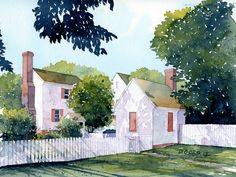 Another scene from Colonial Williamsburg, VA. I painted this over this past weekend from one of the many photos I took here a few weeks ago. Watercolor on Arches 140 lb. CP