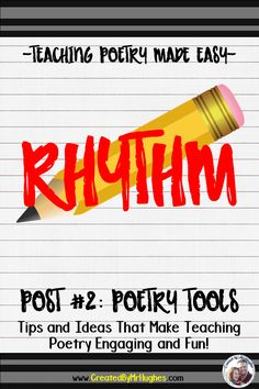 Understanding Rhythm is vital to writing good poetry! Check out how I taught it to my 4th, 5th, and 6th graders in an easy and engaging format. Click on over for Part #2 of Teaching Poetry Made Easy!