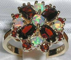 Opals and Garnets love this combo