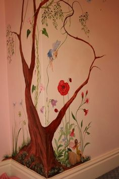 Fairy bedroom painted for a client