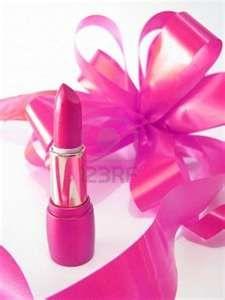 glamor shiny lipstick isolated on white background and flowers Stock ...