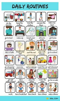 Useful Expressions to Describe your Daily Routines in English