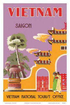 Vietnam, Saigon (Ho Chi Minh City), Vietnam National Tourist Office Poster AllPosters.fi-sivustossa