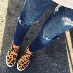 "Steve Madden Sneakers Leopard print loafers by Steve Madden with 3/4"" rubber sole in excellent condition! •No Trades•                                 Model Photo Credit: wheretoget.it Steve Madden Shoes Flats & Loafers"