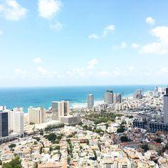 Aujourd'hui je quitte #TelAviv direction Jerusalem pour une nuit ! La fin du séjour approche c'est passé trop vite  #telavivview  __ #bestview #tlv #visitisrael #israel #sea #weekend