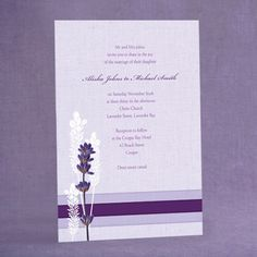 lavender cards for weddings on pinterest lavender wedding invitations lavender weddings and. Black Bedroom Furniture Sets. Home Design Ideas