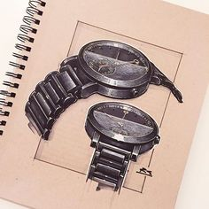 Reid Schlegel - As promised here is the complete marker rendering from yesterday's line work. Check out @movado to see more of their watches! #Movado #movadowatch #watch #ID #industrialdesign #productdesign #idsketching #sketch #sketching #sketchbook #drawing #design #art #render