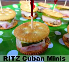 Renee's Kitchen Adventures: @RITZ Crackers   RITZ Cuban Minis Quick and easy game day bite inspired by the great city of NY! #RITZNYBLITZ #AllstarsRitz