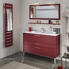 meubles de salle de bains rouge Delpha Inspiration Pop