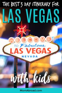 All the top family-friendly attractions, restaurants, hotels and shows laid out in one easy to navigate itinerary for visiting Las Vegas with kids. Plus ways to save big on sightseeing! Usa Travel Guide, Travel Usa, Travel Guides, Travel Tips, Texas Travel, Hawaii Travel, Budget Travel, Italy Travel, Travel With Kids