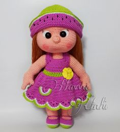 Ravelry: Mia Doll Inspired Watermelon pattern by Havva Ünlü