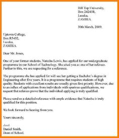 Sample Letter Of Recommendation For Scholarship   Examples In