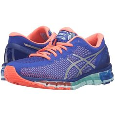 76fff6320 ASICS Gel-Quantum 360 CM (Asics Blue White Flash Coral) Women s... ( 170) ❤  liked on Polyvore featuring shoes