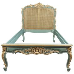Royal Bed with Wickerwork in the Louis Quinze Style | From a unique collection of antique and modern bedroom furniture at https://www.1stdibs.com/furniture/more-furniture-collectibles/bedroom-furniture/