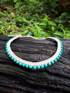 Macrame Anklet Turquoise Anklets for Women Gypsy Clothing image 8 Beaded Anklets, Beaded Choker, Beaded Bracelets, Colar Mix, Boho Hippie, Anklet Designs, Ankle Chain, Micro Macramé, Macrame Jewelry