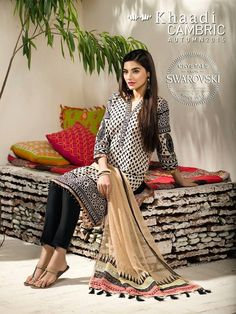 Khaadi Cambric Autumn Winter Collection 2016 | BestStylo.com