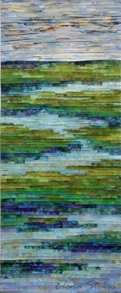 Elena Strokes made Tranquil Marsh – Wild Iris.