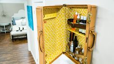 DIY Suitcase Cabinet! Created by @kennethwingard on Home and Family!