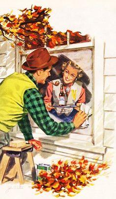 Budweiser - 1951 - art by John Walter