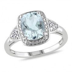 1.94 Ct Aquamarine & Diamond 10K White Gold Solitaire Ring by JewelryHub on Opensky