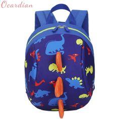 Chłopcy Dziewczęta Plecak Najwyższej Jakości Dziecięca Torba Na Ramię  Unisex Dzieci Dinozaur Wzór Zwierzęta Toddler School 3e7383bfbd43a