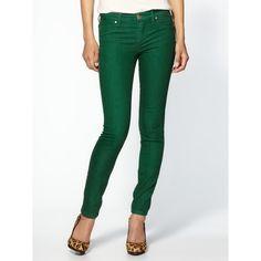 Blank Denim Skinny Jean w/ Contrast Stich ($39) ❤ liked on Polyvore