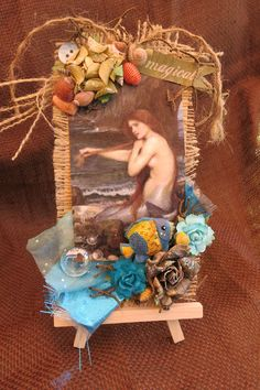 Tag Martica Designs:  mermaid/nautical Altered Tags