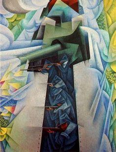 Gino Severini, Gepanzerter Zug, 1915, Moma, NY
