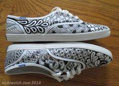 Jul 21 Vicki Welsh zentangle shoes 2