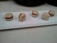 Macarons with milk chocolate and passion fruit ganache