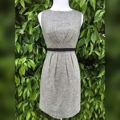 Ann Taylor LOFT Pencil Dress Size 2 Petite! 38% wool, 33% polyester, 14% acrylic, 9% silk, 2% spandex, 4% other. Lining: 100% polyester. Dry clean only. Ann Taylor Dresses