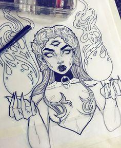 Gothic Drawings, Dark Art Drawings, Tattoo Design Drawings, Pencil Art Drawings, Art Drawings Sketches, Cute Drawings, Sketch Art, Arte Sketchbook, Doodle Art
