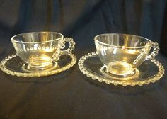 Imperial Candlewick 2 sets cup and saucers by TreasuresFromTexas, $8.00