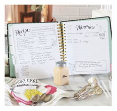 My Fake Kitche ( Subway tiled board and a marbel cutting board!) The Keepsake Kitchen Diary | A DIY recipe & memory cookbook