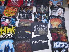 Camisetas de conciertos