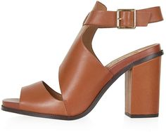 Womens windsor tan sandals / flip flops from Topshop - £56 at ClothingByColour.com