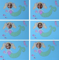 Great mermaid party ideas and printables to purchase.  Love the picture board idea especially.