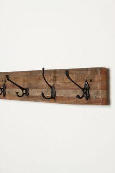 Schoolroom Hook Rack ~ looks easy to make