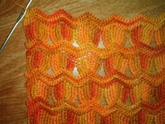 Vintage Fan Ripple Stitch Pattern by Janis Cortese